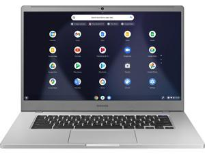 "Samsung - 15.6"" Chromebook - Intel Celeron - 4GB Memory - 32GB eMMC Flash Memory - Platinum Titan (XE350XBA-K01US)"