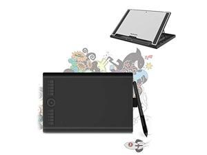 GAOMON M10K PRO 10 x 6.25'' Tilt  and  Radial Support Drawing Tablet Can Work on Android OS  and  PC ,Comes with GAOMON Tablet Stand GMS01