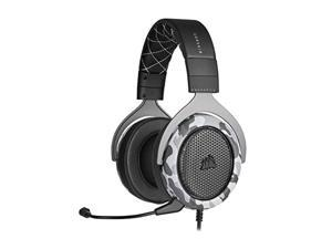Corsair HS60 Haptic Stereo Gaming Headset with Haptic Bass, Memory Foam Earcups, Removable Microphone, Windows Sonic Compatible, Discord-Certified for PC - Arctic Camo (CA-9011225-NA)