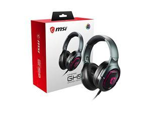 MSI Immerse GH50 7.1 Surround Sound RGB Mystic Light Metal Construction Foldable Headband Design Gaming Headset, Large (ImmerseGH50)