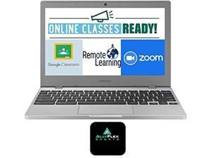 2020 Newest Samsung Chromebook 4 11.6? Laptop Computer for Business Student, Intel Celeron N4000, 4GB RAM, 32GB Storage, up to 12.5 Hrs Battery Life, USB Type-C WiFi, Chrome OS, AllyFlex MousPad