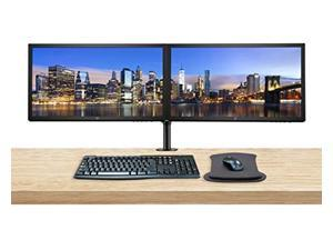 HP V24 24 Inch FHD LED-Backlit LCD 2-Pack Monitor Bundle with HDMI, Dual Monitor Stand, FreeSync, MK270 Wireless Keyboard and Mouse Combo, Gel Pad (ASIHLAMZ262)