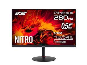 "Acer Nitro XV252Q Zbmiiprx 24.5"" Full HD (1920 x 1080) IPS Zero-Frame FreeSync Premium Gaming Monitor, DisplayHDR400, 99% sRGB, Up to 280Hz, Up to 0.5ms (Display Port  and  2 x HDMI 2 (XV252QZbmiiprx)"