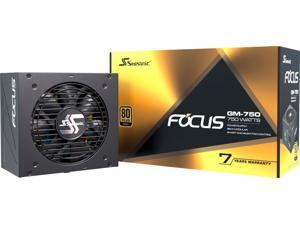 Seasonic - FOCUS GM-750, 750W 80+ Gold PSU, Semi-Modular, Fits All ATX Systems, Fan Control in Silent  and  Cooling Mode, 7 Yr Warranty - Black (FOCUSGM-750)
