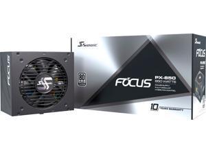 Seasonic - FOCUS PX-850, 850W 80+ Platinum PSU, Full-Modular, Fan Control in Fanless, Silent, Cooling Mode, 10 Yr Warranty - Black (FOCUSPX-850)