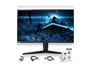 """LG Ultragear 27GL850-B 27"""" 16:9 144 Hz HDR FreeSync IPS Gaming Monitor with Display Port, HDMI, and USB Upstream Cables, LCD Cleaning Kit, and Electronics Basket Microfiber Cloth - Base Bund (27GL850)"""