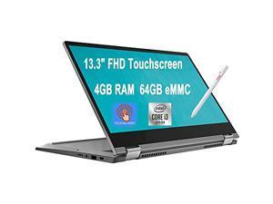 "Flagship 2020 Lenovo Flex 5 13 Chromebook 2-in-1 Laptop 13.3"" FHD Touchscreen Intel Core i3-10110U (Beats i5-7200U) 4GB RAM 64GB eMMC Backlit KB 720p Webcam USB-C Chrome OS + iCarp Pen"