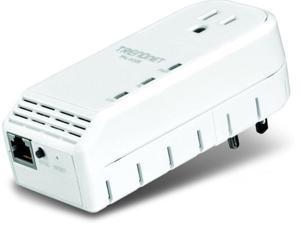 TRENDnet TPL-402E 500 Mbps Powerline AV Adapter with Bonus Outlet (TPL-402E)
