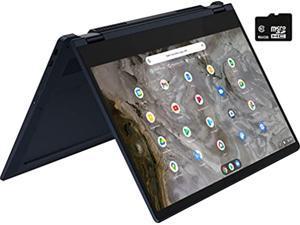 "Lenovo - Flex 5 13"" 2-in-1 FHD Touchscreen Chromebook - Pentium 7505 - 4GB Memory - 96GB Storage (32GB eMMC Plus 64GB SD Card) WiFi 6, Bluetooth, Webcam- Abyss Blue w/TGC Accessories"