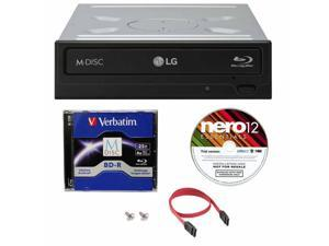 LG 14x WH14NS40 Internal Blu-ray Writer Bundle with Nero Essentials Burning Software and Cable Accessories