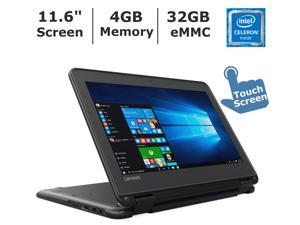 "(Lenovo-N23-convertible-laptop) Lenovo N23 2-in-1 Convertible Laptop, 11.6"" Touchscreen HD IPS Display, Intel Celeron Dual Core Processor up to 2.5 GHz, 4GB RAM, 32GB SSD, Webcam, Bluetooth, Windows 1"
