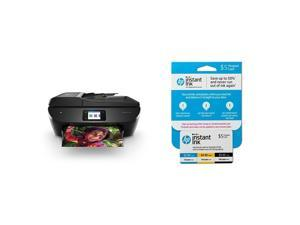 HP ENVY Photo 7855 All-in-One Photo Printer with Wireless Printing (K7R96A) and Instant Ink Prepaid Card for 50 100 300 Page per Month Plans (3HZ65AN)
