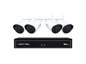 Night Owl Wireless Home Security Camera System with 4 AC Powered 1080p HD Indoor/Outdoor Wireless Digital IP Cameras with Night Vision (Expandable up to a Total of 8 Wireless Devices), 1 TB Hard Drive