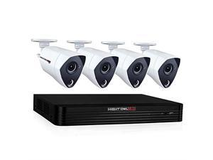 Night Owl CCTV Video Home Security Camera System with 4 Wired 4K Ultra HD Indoor/Outdoor Cameras with Night Vision (Expandable up to a Total of 8 Wired Cameras), and 2 TB Hard Drive