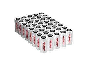 Tenergy Premium CR123A 3V Lithium Battery, [UL Certified] 1600mAh Photo Lithium Batteries, Security Cameras, Smart Sensors, Specialty Devices, 40 Pack, PTC Protected