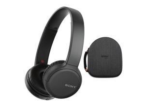 Sony WH-CH510 Wireless On-Ear Headphones, Black (WHCH510/B) with Hardshell Headphone Case Bundle (2 Items)