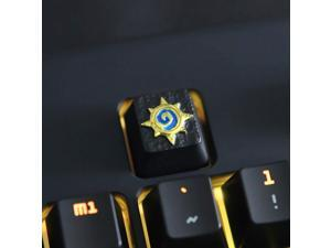 All Gaming Keycaps DIY Metal Keycap Stereo Embossed Personality Keycap for Cherry Switches Mechanical Keyboards (Hearthstone