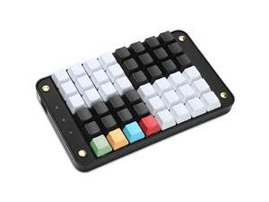 Koolertron Single-Handed Programmable Mechanical Keyboard with OEM Gateron Red Switch,All 48 Programmable Keys Tools Keypad,8 Macro Keys, PBT Keycaps.[SMKD72-A]
