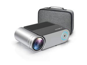 """Mini Projector, Vamvo L4200 Portable Video Projector, Full HD 1080P 200"""" Display Supported; Outdoor Movie Projector 3800 Lux with 50,000 Hrs, Compatible with Fire TV Stick, PS4, HDMI, VGA, AV and US"""