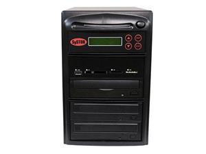 Systor Multi Media Flash Backup Center + 1 to 2 SATA Blu-Ray Duplicator - Back Up Different Flash Memory Drives (USB/SD/CF/MS/MMC) to CD/DVD/BD/BD-R/BDXL