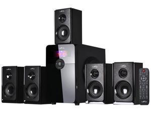 beFree Sound BFS-450 5.1 Channel Surround Bluetooth Speaker System - Black