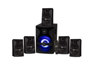 Acoustic Audio Bluetooth 5.1 Speaker System with Sub Light and FM Home Theater 6 Speaker Set