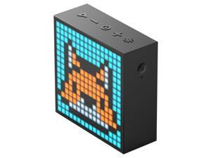 Divoom Timebox Evo Portable Bluetooth Pixel Art Speaker with 256 Programmable LED Panel 3.9 x 1.5 x 3.9 inches - Black