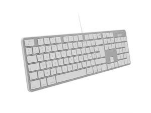 Macally SLIMKEYPROAES Ultra-Slim USB Wired Keyboard for Apple Mac, MacBook Pro Air, Laptop, & Windows PC - Spanish Space Gray