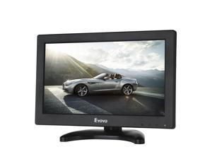 """Eyoyo 12"""" Inch TFT LCD Monitor with AV HDMI BNC VGA Input 1366x768 Portable Mini HD Color Screen Display with Built-in Speaker"""