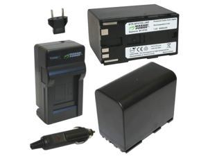 Wasabi Power Battery (2-Pack) and Charger for Canon BP-970G, BP-975