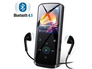 Mp3 Player,16GB Mp3 Player with Bluetooth,Built-in Speaker,Portable HiFi Lossless Sound Music Player with FM Radio Voice Recorder Touch Button with Screen Support up to 128GB(Black)