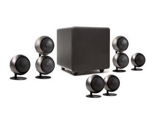 Orb Audio People's Choice 5.1 Home Theater Surround Sound Speaker System in Hand Polished Steel