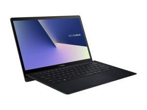 "ASUS ZenBook S, 13.3"" UHD 4K Touch, 8th Gen Whiskey Lake Intel Core i7-8565U Processor, 16GB RAM, 512GB PCIe SSD, FP Sensor, Thunderbolt, Windows 10 Professional - UX391FA-XH74T Deep Dive Blue lapto"