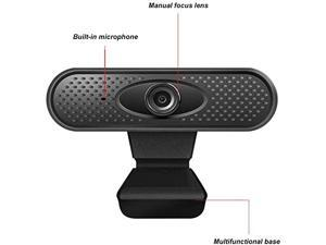 Webcam with Microphone, USB Desktop Laptop 1080P HD Camera,Mini Plug and Play Video Calling Computer Camera, USB Web Camera for PC Mac Laptop