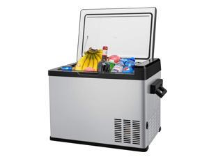 Linsion 42 Quart RV Refrigerator/Freezer Compact Vehicle Car Fridge Compressor Electric Cooler for Car,Truck,RV,Boat,Outdoor and Home use 12/24V DC and 90-250 AC,Cooling from 68ºF to -13ºF