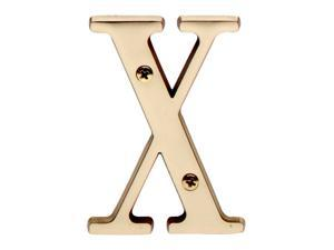 """Letter """"X"""" House Letters Solid Bright Brass 3"""" 