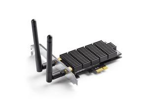 TP-Link AC1300 PCIe Wireless Wifi PCIe Card   2.4G/5G Dual Band Wireless PCI Express Adapter   Low Profile, Long Range, Heat Sink Technology   Supports Windows 10/8.1/8/7/XP (Archer T6E)