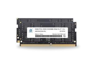 Adamanta 32GB (2x16GB) Laptop Memory Upgrade Compatible for Lenovo Legion, IdeaCentre, IdeaPad, ThinkCentre, ThinkPad & V-Series DDR4 2400Mhz PC4-19200 SODIMM 2Rx8 CL17 1.2v RAM DRAM