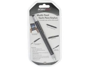 Mobile Edge Black Multi-Tool Tablet and Touch Screen Capacitive Stylus and Twist Open Tech Pen Combo, with Screwdrivers, Ruler and Level MEASPM1