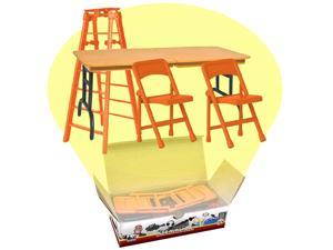 Ultimate Ladder, Table and Chairs Orange Playset for WWE Wrestling Action Figures
