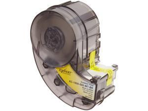 "Brady High Adhesion Vinyl Label Tape (XC-1500-595-WT-BK) - Black on White Vinyl Film - Compatible with IDXPERT and LABXPERT Label Printers - 30 Length, 1.5"" Width"