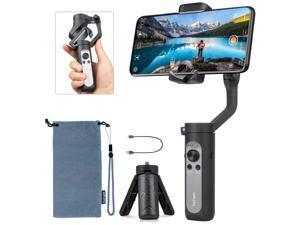 Hohem iSteady X, Foldable 3 Axis 0.5 lbs Lightweight Smartphone Gimbal Stabilizer Handheld Pocket Size Youtuber Vlogger Live Video for iPhone 11 Pro Max X XS, Android - Black