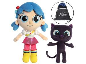 """Aurora Plush 11"""" True and 8.5"""" Bartleby Set from True and The Rainbow Kingdom, with Cotton Bag"""