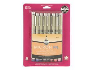 BC Pigma Micron PN Pen Set/8 Assort Colors