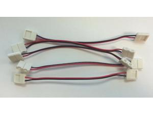 5x 10mm 5050 LED Light Strip to Strip Connector PCB Adapter 2 Pin Single Color