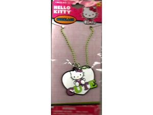 Hello Kitty Green And White Cute Heart Spaped Charm Necklace (1)