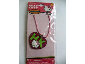 """Hello Kitty """"HK"""" Pink  Heart Shaped Charm Necklace (1)"""