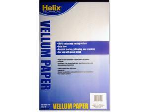 "Helix Vellum Pad 11""x17"" 50 Sheets White 37106"