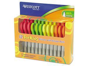 "Westcott Kids Scissors 5"" Pointed Assorted 12/Pack 13141"