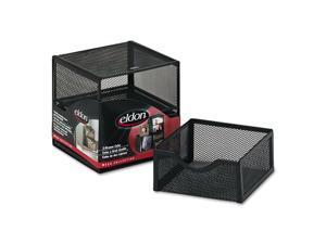 """Rolodex Organization Two-Drawer Cube, Wire Mesh, Storage, 6 X 6 X 6, Black"""